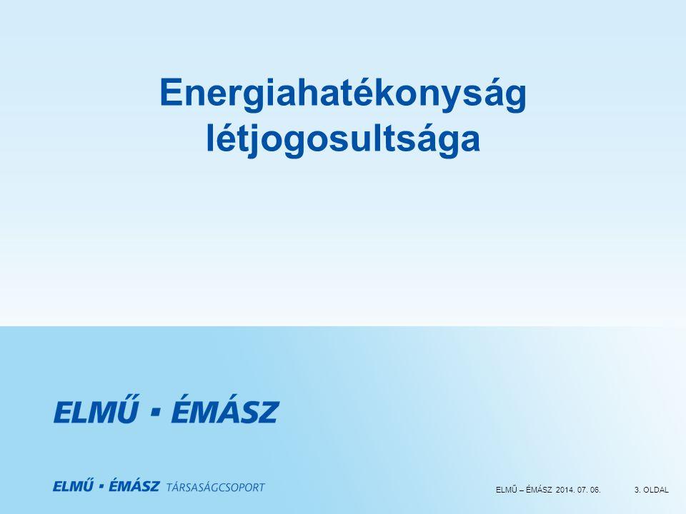Energiahatékonyság létjogosultsága