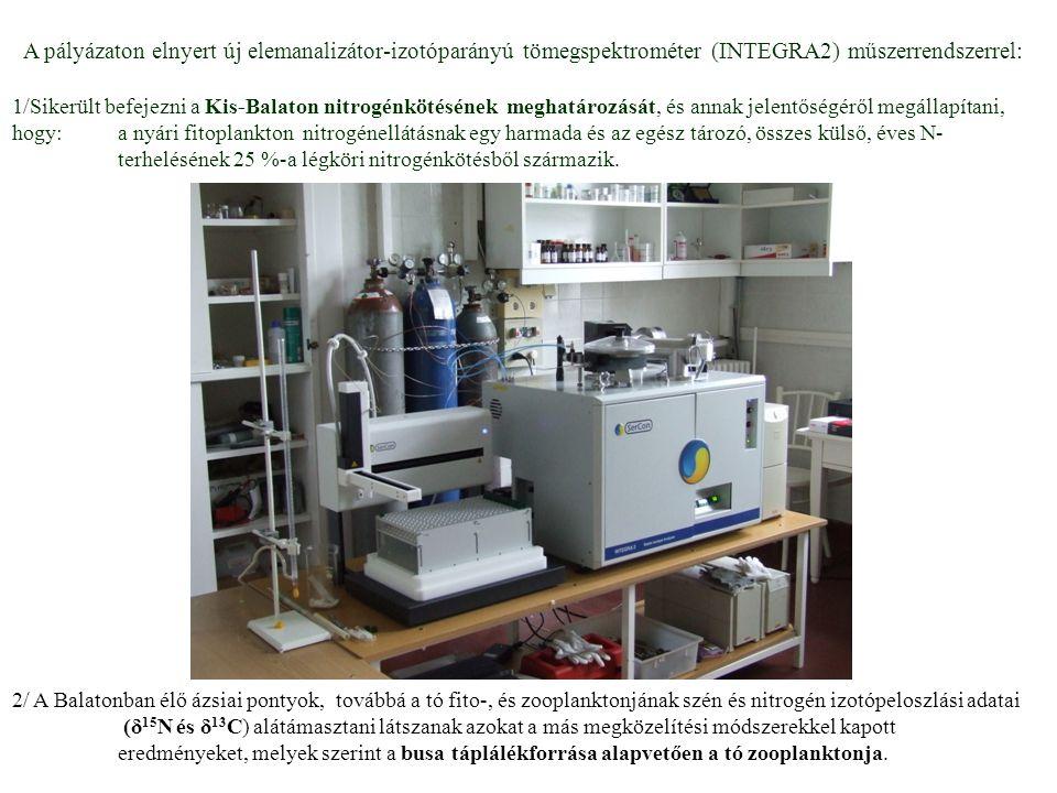 A pályázaton elnyert új elemanalizátor-izotóparányú tömegspektrométer (INTEGRA2) műszerrendszerrel: