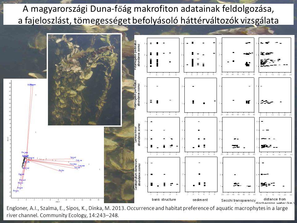 A magyarországi Duna-főág makrofiton adatainak feldolgozása, a fajeloszlást, tömegességet befolyásoló háttérváltozók vizsgálata