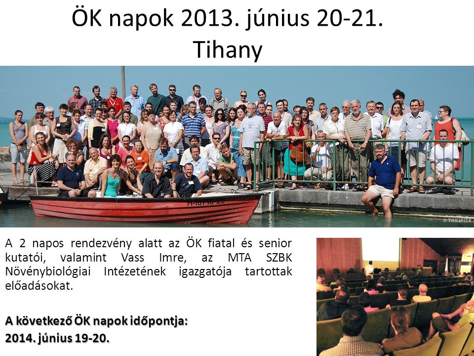 ÖK napok 2013. június 20-21. Tihany