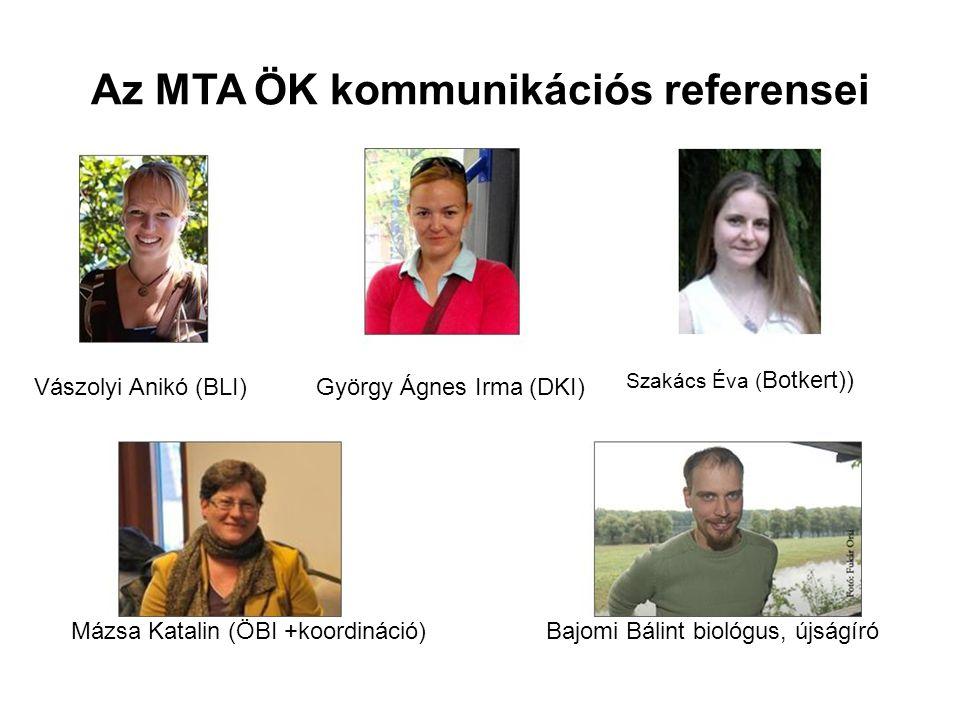 Az MTA ÖK kommunikációs referensei