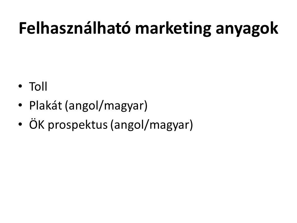 Felhasználható marketing anyagok