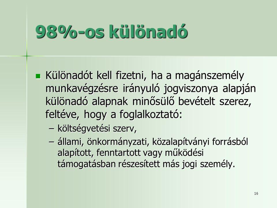 98%-os különadó