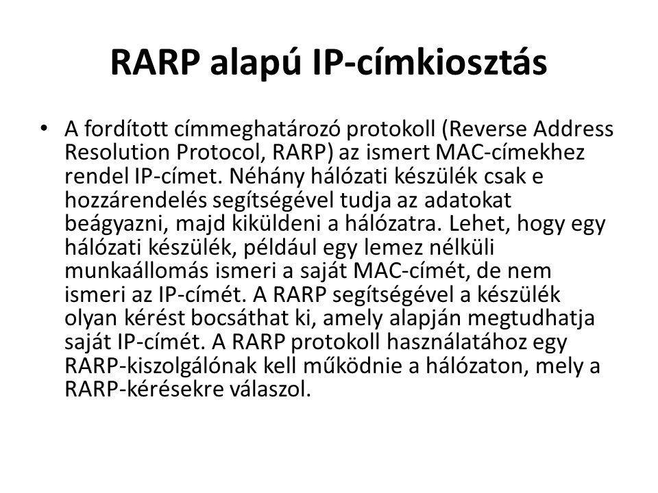 RARP alapú IP-címkiosztás