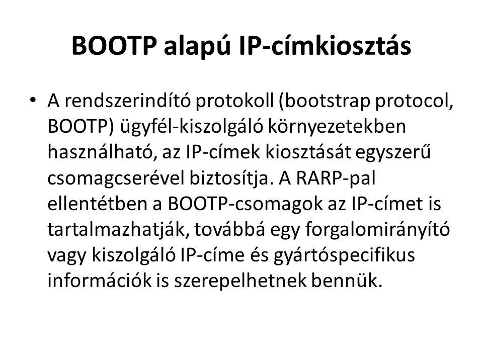 BOOTP alapú IP-címkiosztás