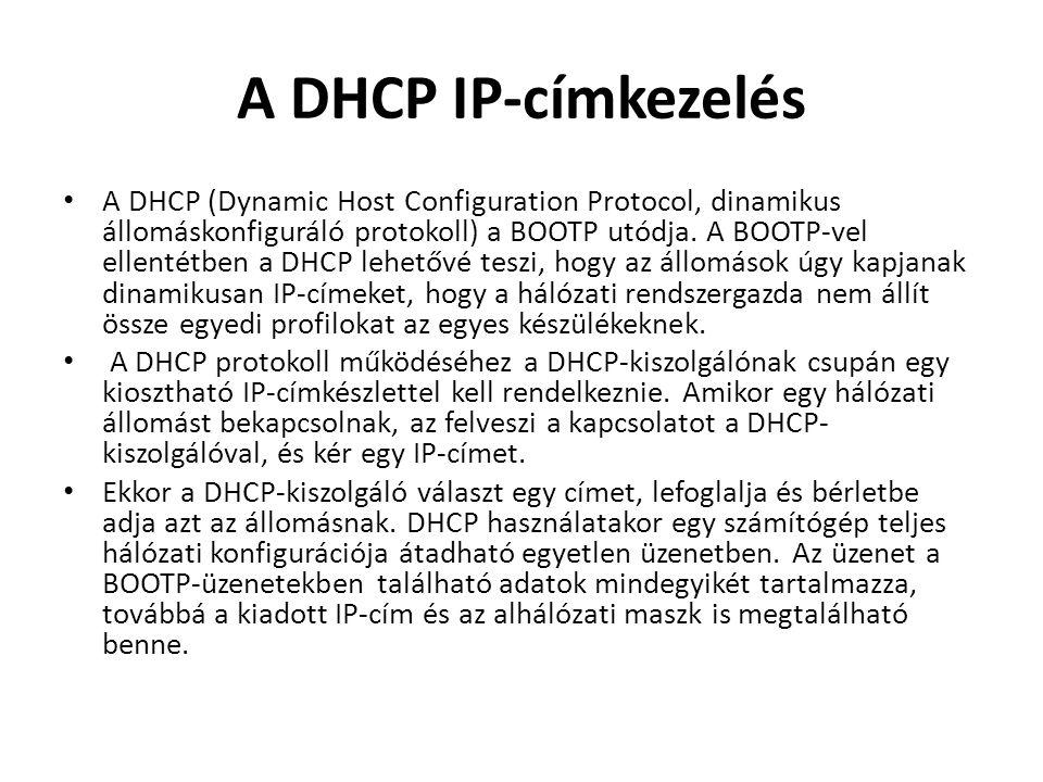 A DHCP IP-címkezelés