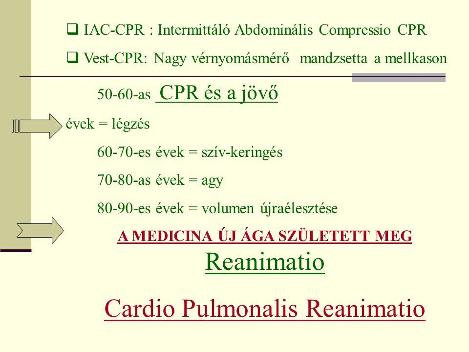 Cardio Pulmonalis Reanimatio