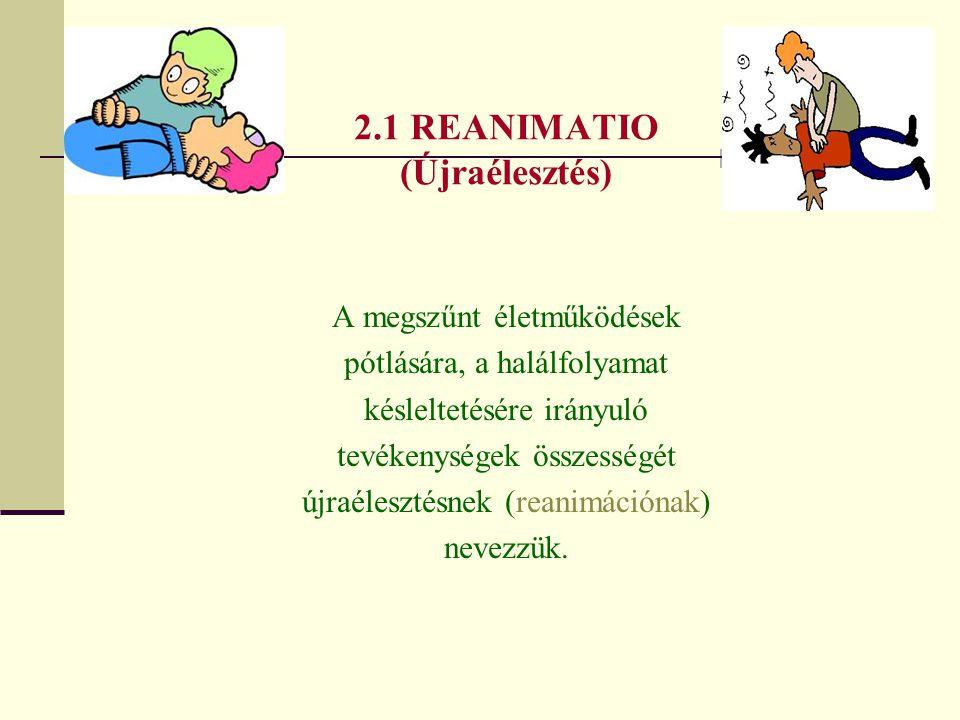 2.1 REANIMATIO (Újraélesztés)