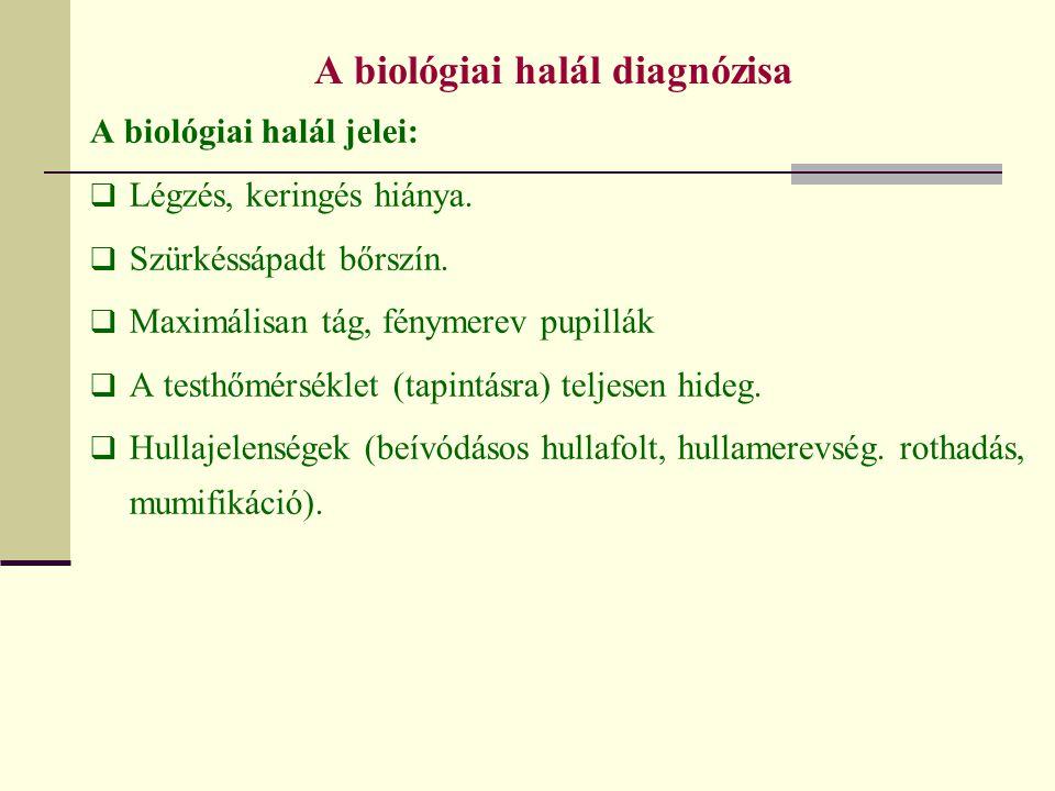 A biológiai halál diagnózisa