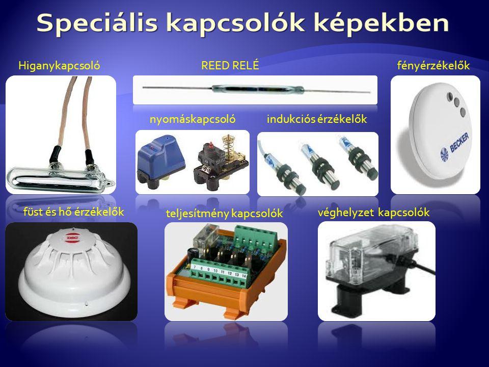 Higanykapcsoló REED RELÉ. fényérzékelők. nyomáskapcsoló. indukciós érzékelők. füst és hő érzékelők.