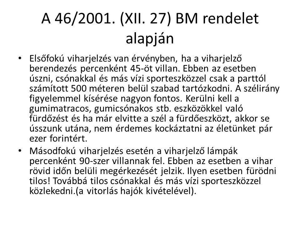 A 46/2001. (XII. 27) BM rendelet alapján