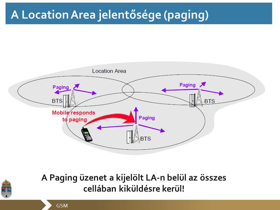 A Location Area jelentősége (paging)
