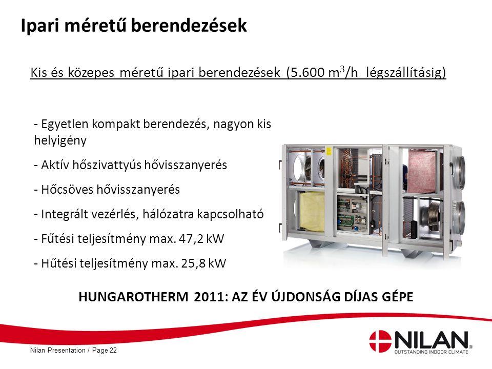 HUNGAROTHERM 2011: AZ ÉV ÚJDONSÁG DÍJAS GÉPE