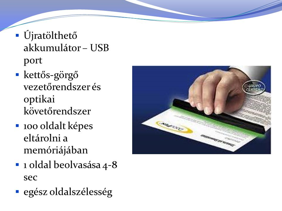 Újratölthető akkumulátor – USB port
