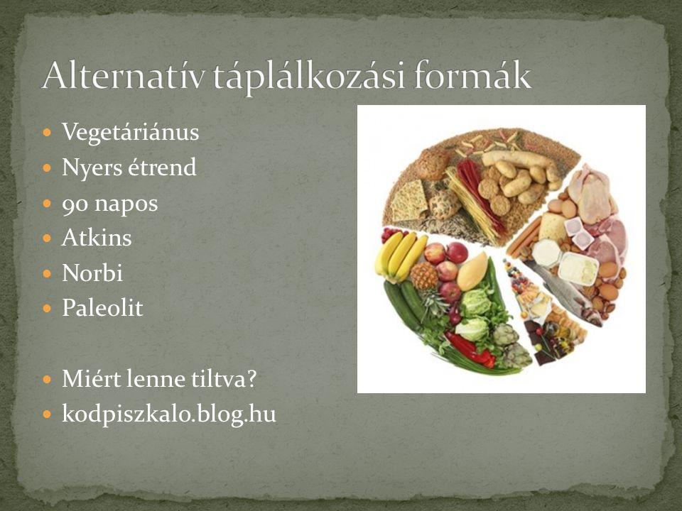 Alternatív táplálkozási formák