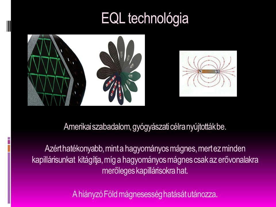 EQL technológia Amerikai szabadalom, gyógyászati célra nyújtották be