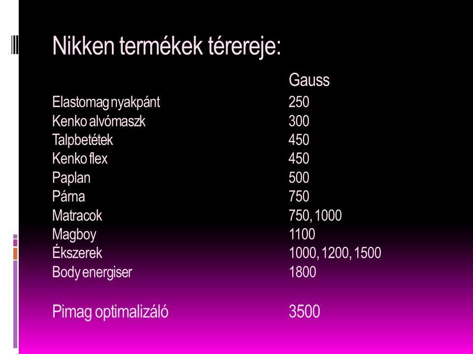 Nikken termékek térereje:. Gauss Elastomag nyakpánt. 250