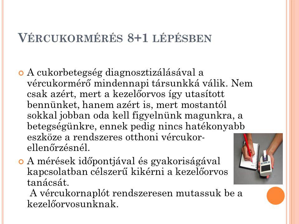 Vércukormérés 8+1 lépésben