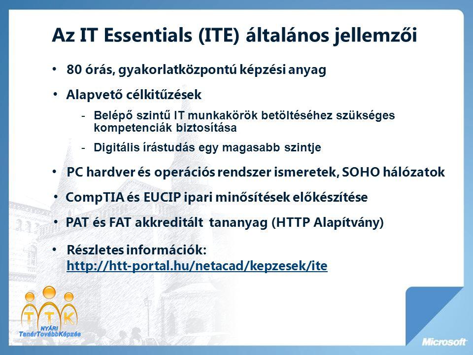 Az IT Essentials (ITE) általános jellemzői