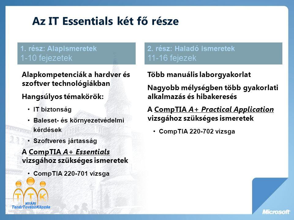 Az IT Essentials két fő része
