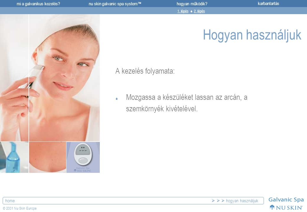 Hogyan használjuk A kezelés folyamata: