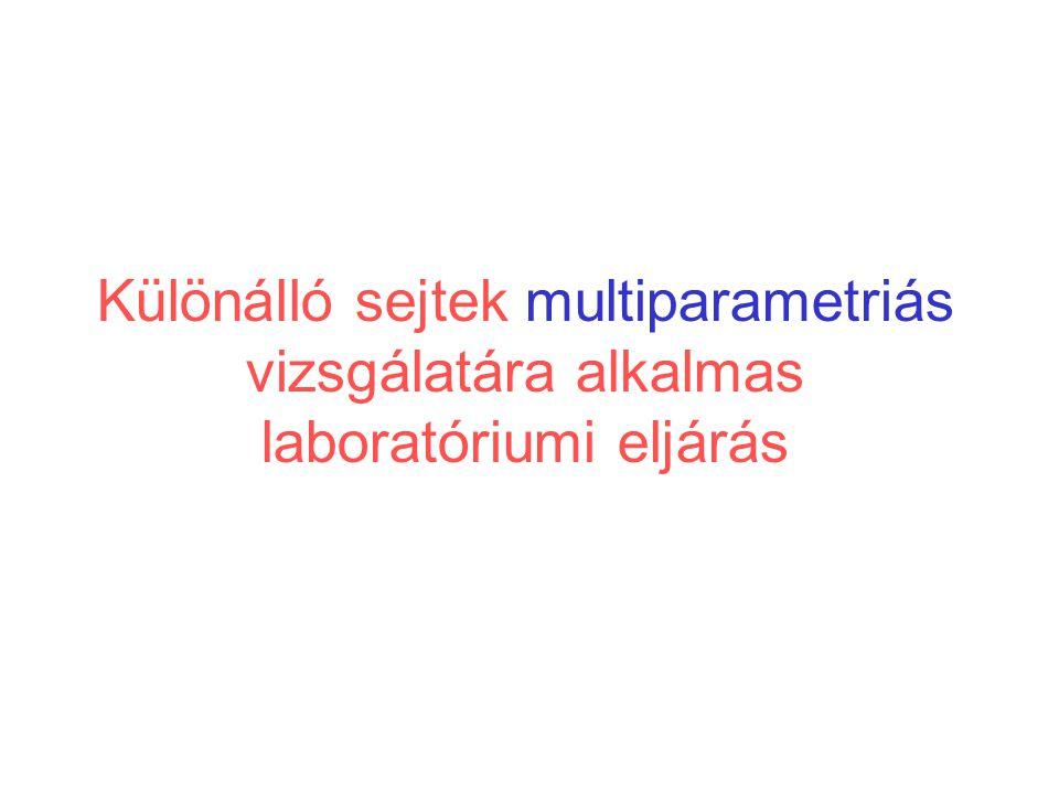 Különálló sejtek multiparametriás vizsgálatára alkalmas laboratóriumi eljárás