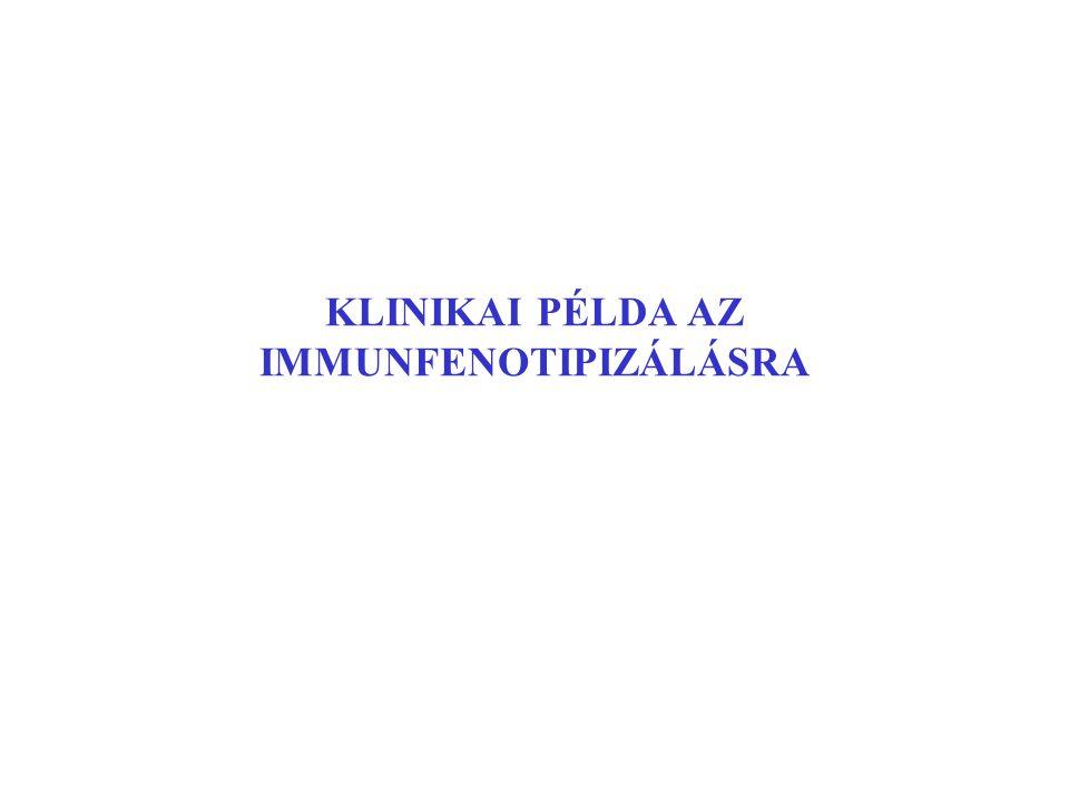 KLINIKAI PÉLDA AZ IMMUNFENOTIPIZÁLÁSRA