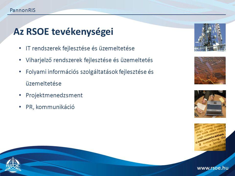 Az RSOE tevékenységei IT rendszerek fejlesztése és üzemeltetése