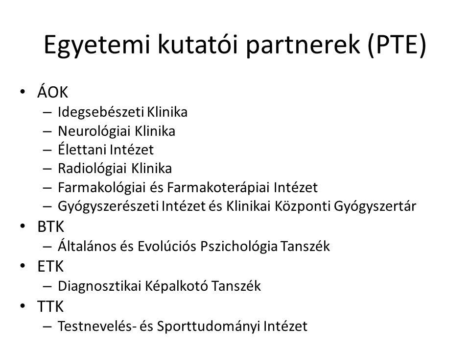 Egyetemi kutatói partnerek (PTE)