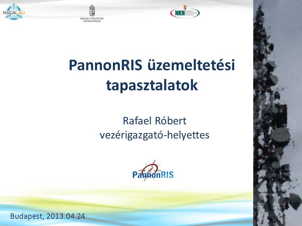 PannonRIS üzemeltetési tapasztalatok