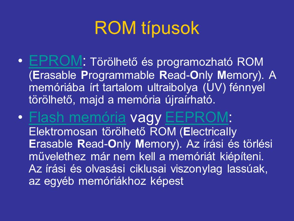 ROM típusok