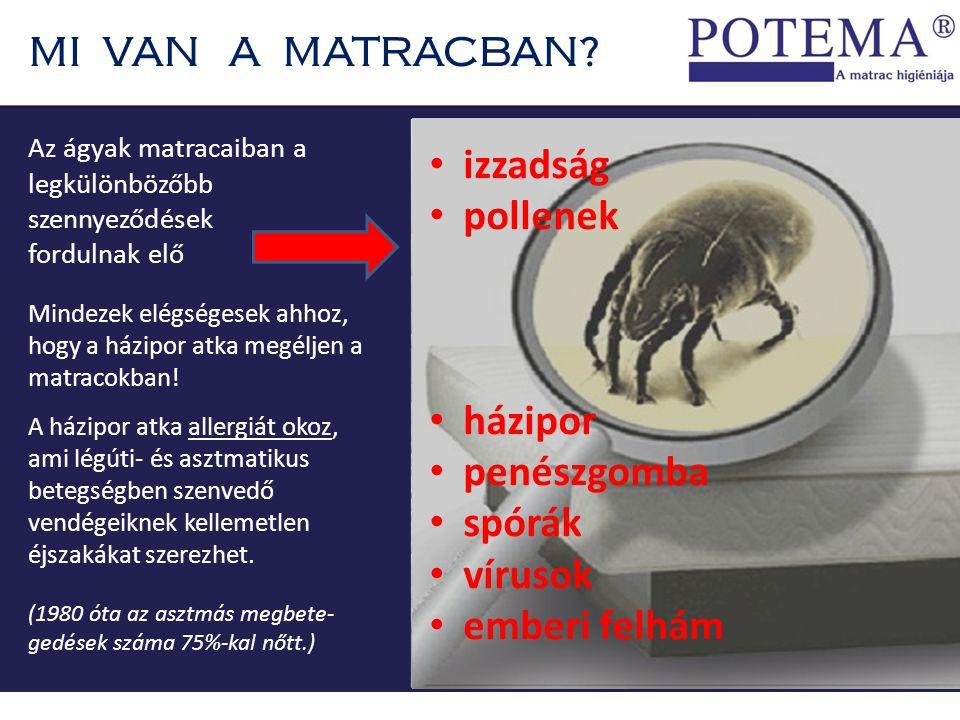 MI VAN A MATRACBAN izzadság pollenek házipor penészgomba spórák
