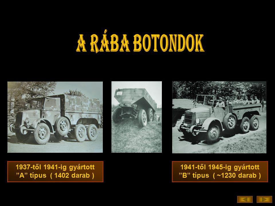 a RÁBA BOTONDOK 1937-től 1941-ig gyártott A típus ( 1402 darab )