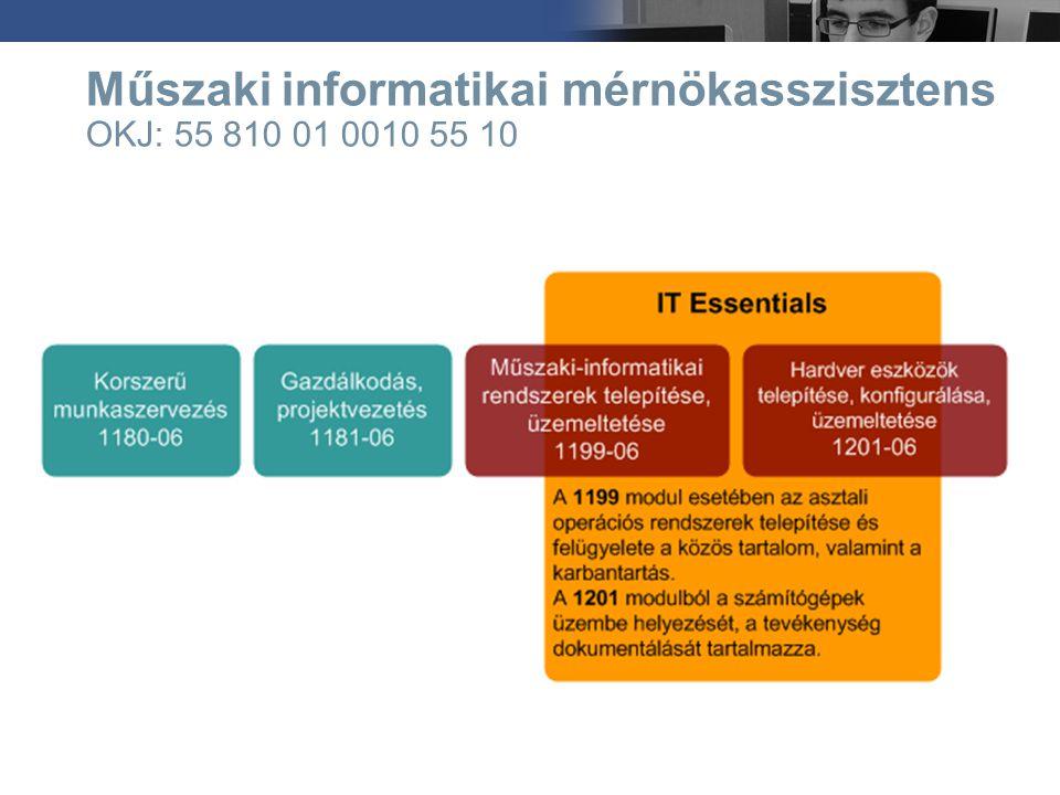 Műszaki informatikai mérnökasszisztens OKJ: 55 810 01 0010 55 10