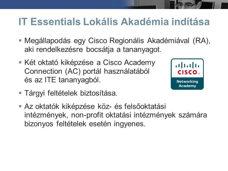 IT Essentials Lokális Akadémia indítása