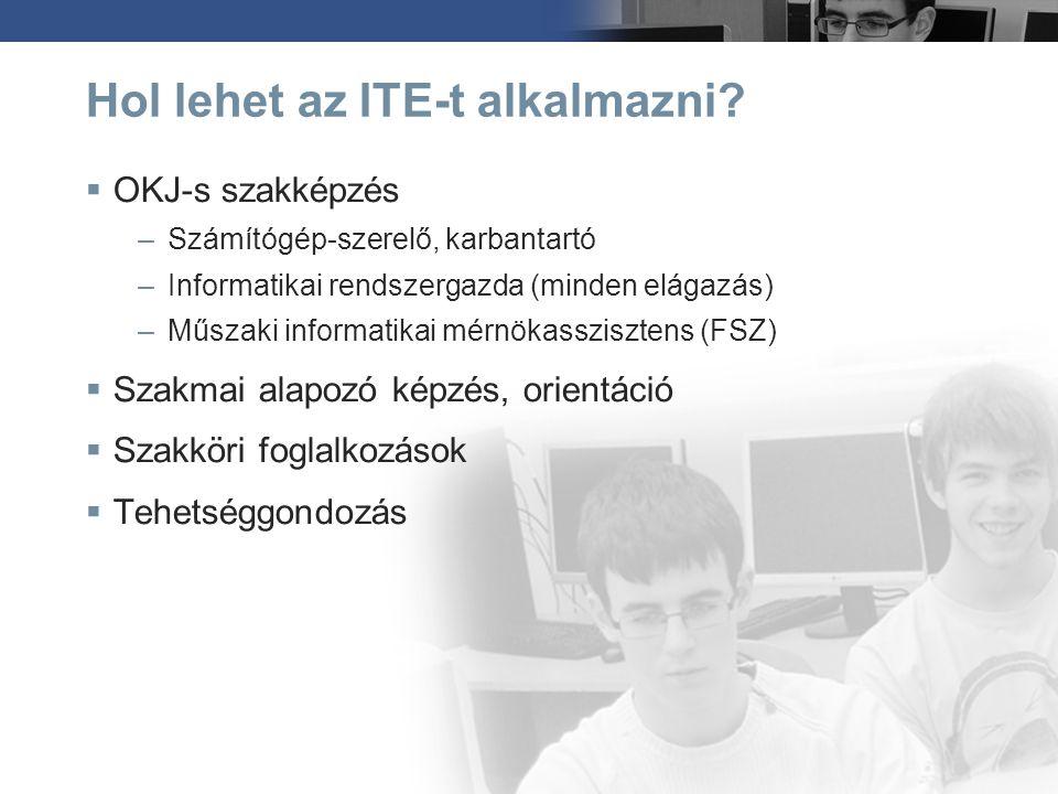 Hol lehet az ITE-t alkalmazni