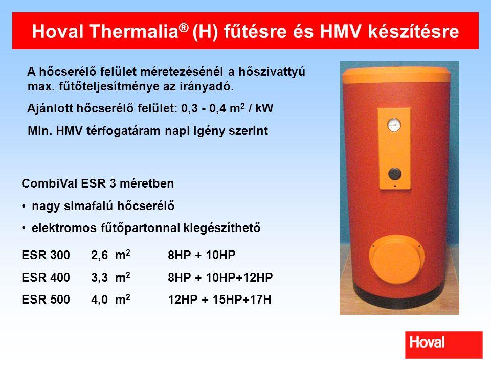 Hoval Thermalia® (H) fűtésre és HMV készítésre