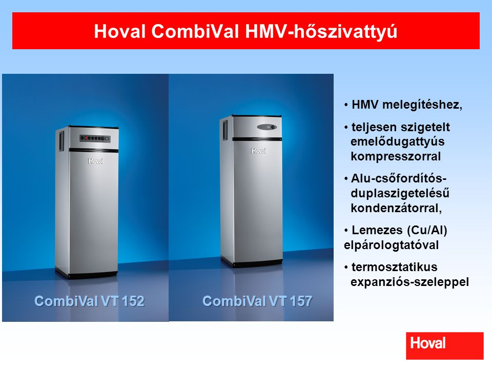 Hoval CombiVal HMV-hőszivattyú
