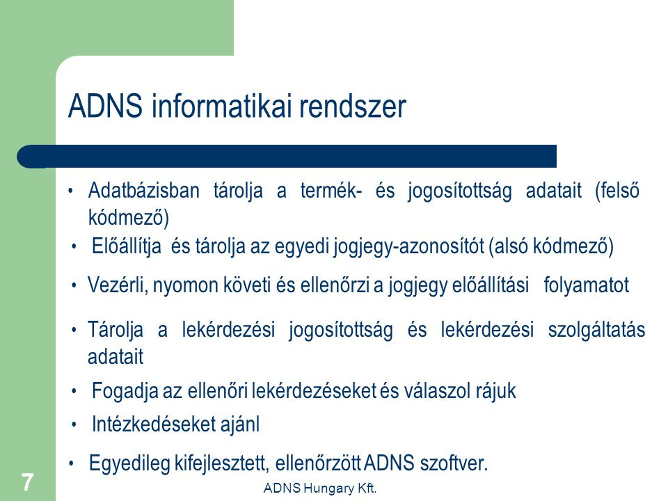 ADNS informatikai rendszer