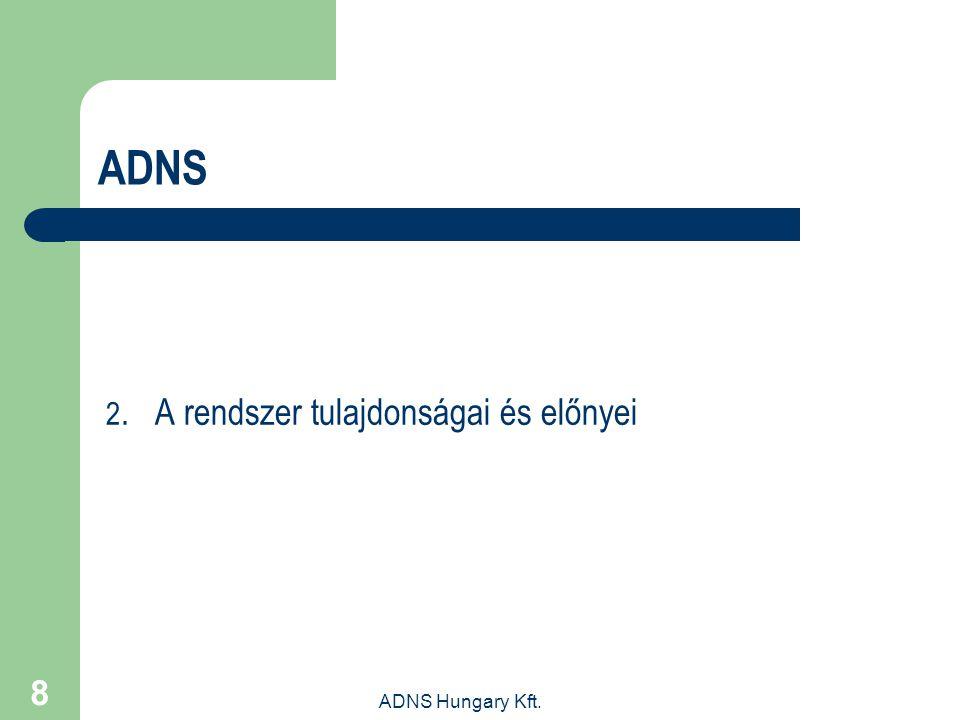 ADNS 2. A rendszer tulajdonságai és előnyei ADNS Hungary Kft.