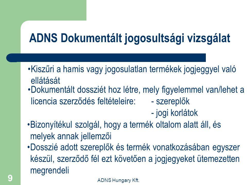 ADNS Dokumentált jogosultsági vizsgálat