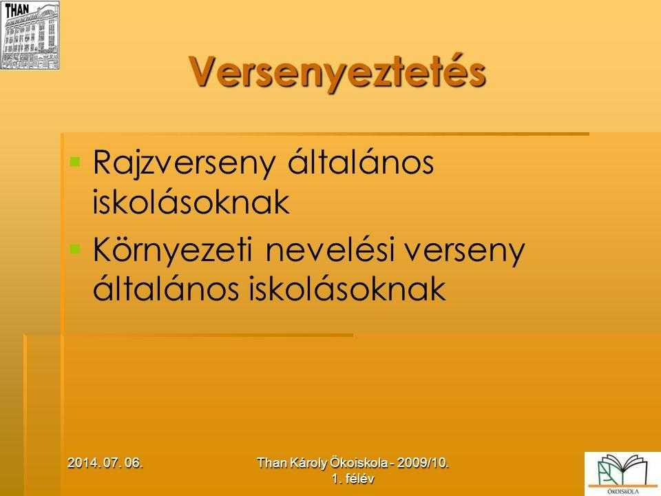 Than Károly Ökoiskola - 2009/10. 1. félév