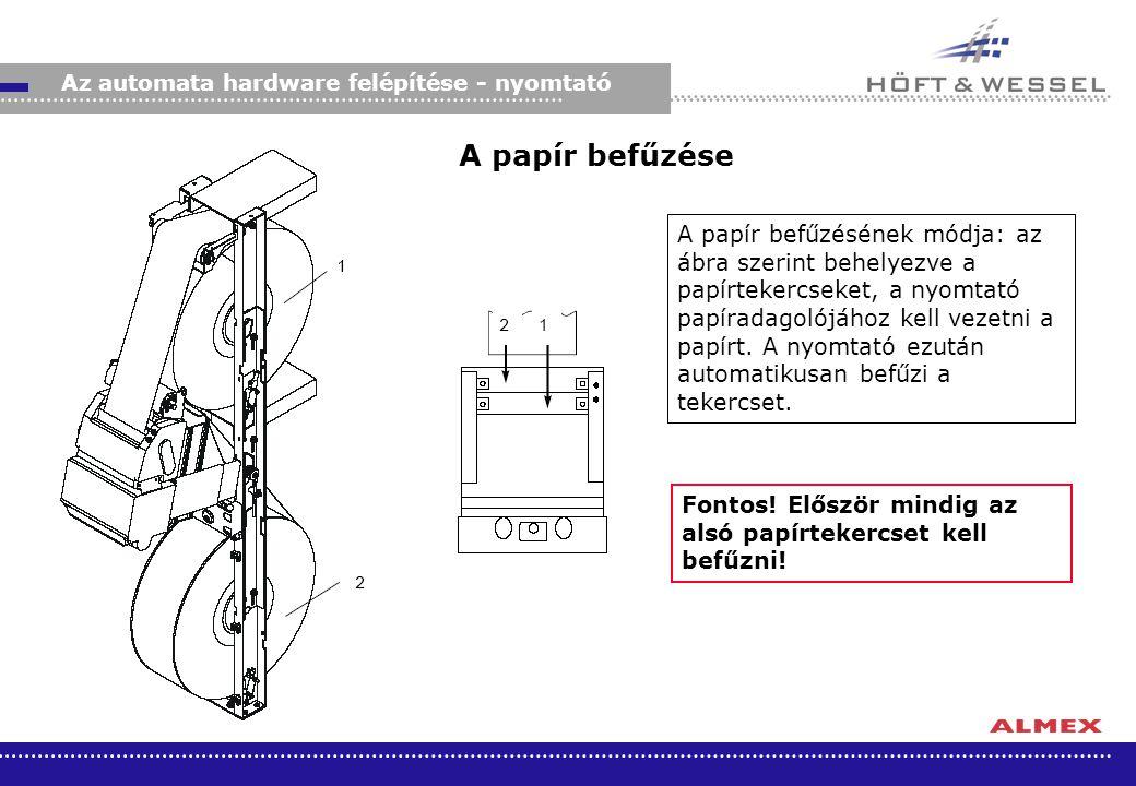 Az automata hardware felépítése - nyomtató