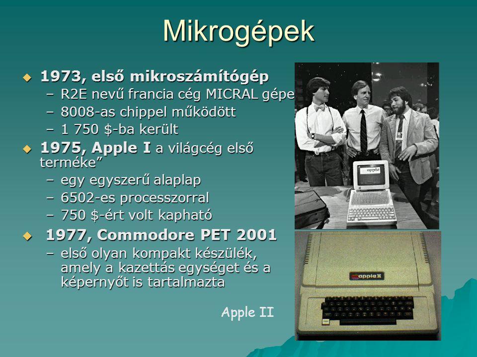 Mikrogépek 1977, Commodore PET 2001 1973, első mikroszámítógép