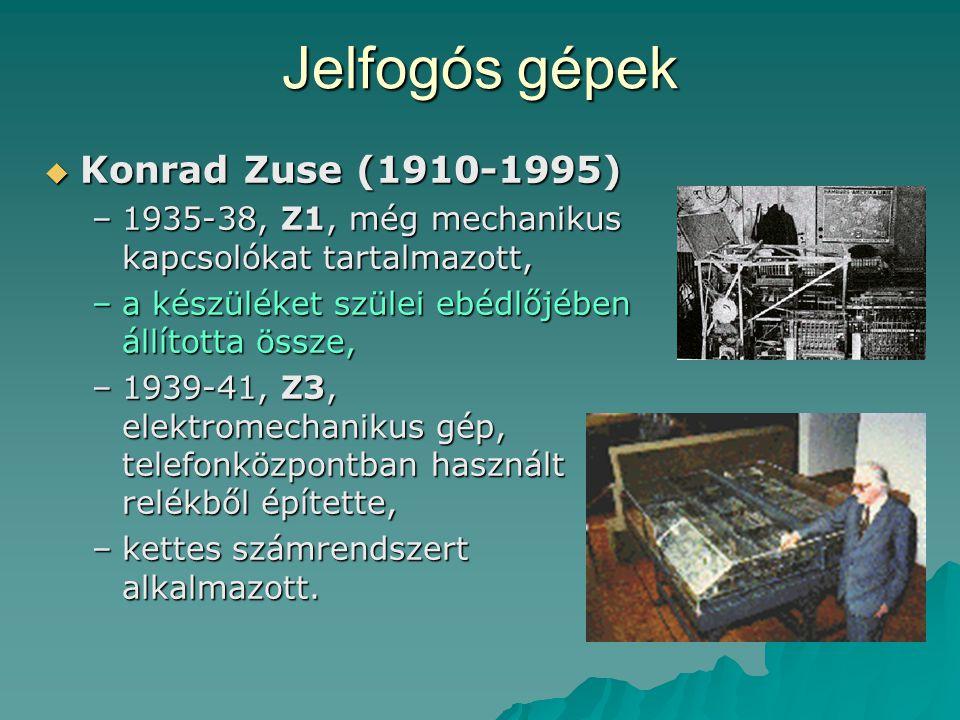 Jelfogós gépek Konrad Zuse (1910-1995)