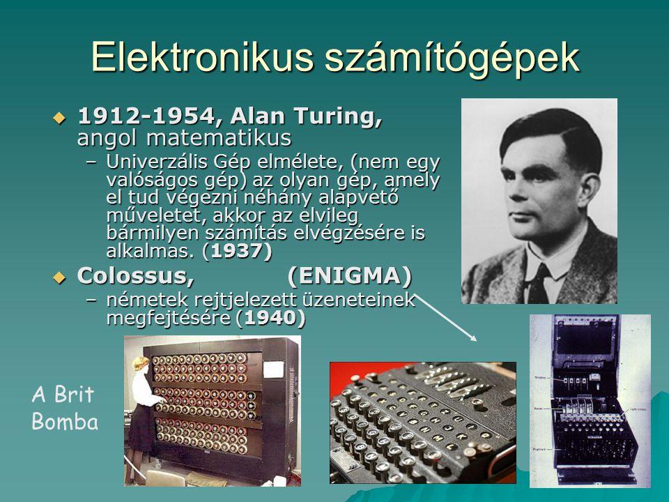 Elektronikus számítógépek