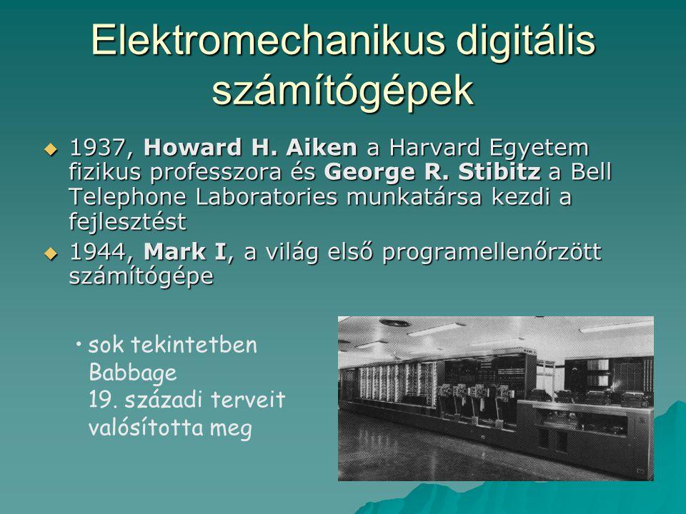 Elektromechanikus digitális számítógépek