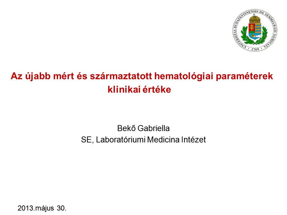 Bekő Gabriella SE, Laboratóriumi Medicina Intézet
