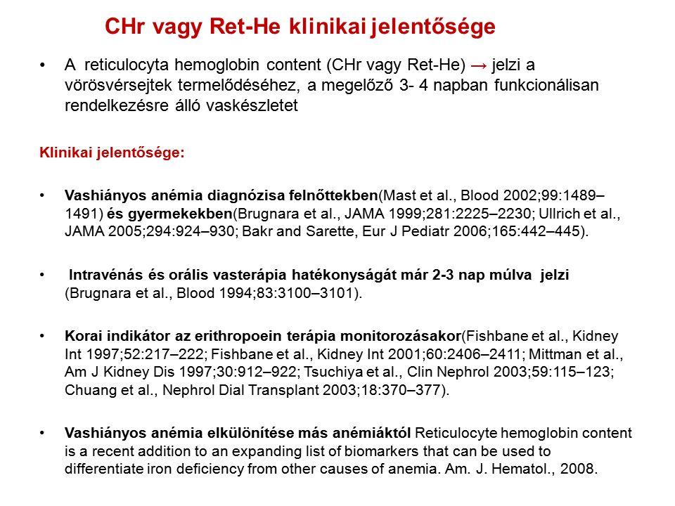 CHr vagy Ret-He klinikai jelentősége