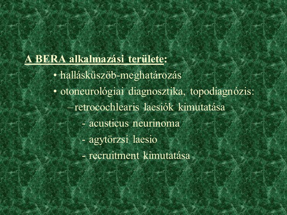 A BERA alkalmazási területe: